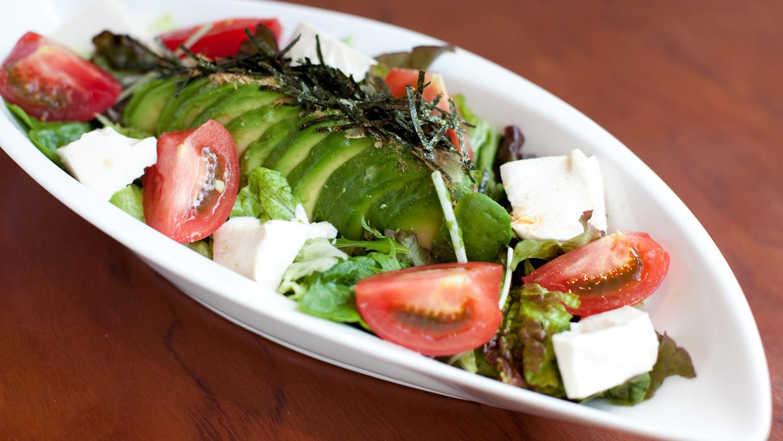 salad of an avocado and tofu
