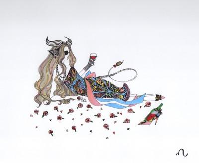 Stars&Birds 画師(えし) 実希子によるイラストレーション展示